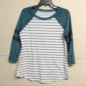 MAURICES Striped Baseball Tee Women's Medium